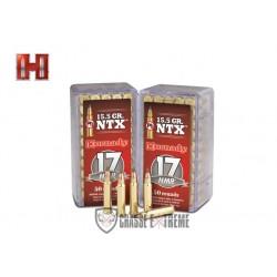 MUNITIONS HORNADY 17 HMR 15.5 GR NTX VARMINT EXPRESS ANNULAIRE