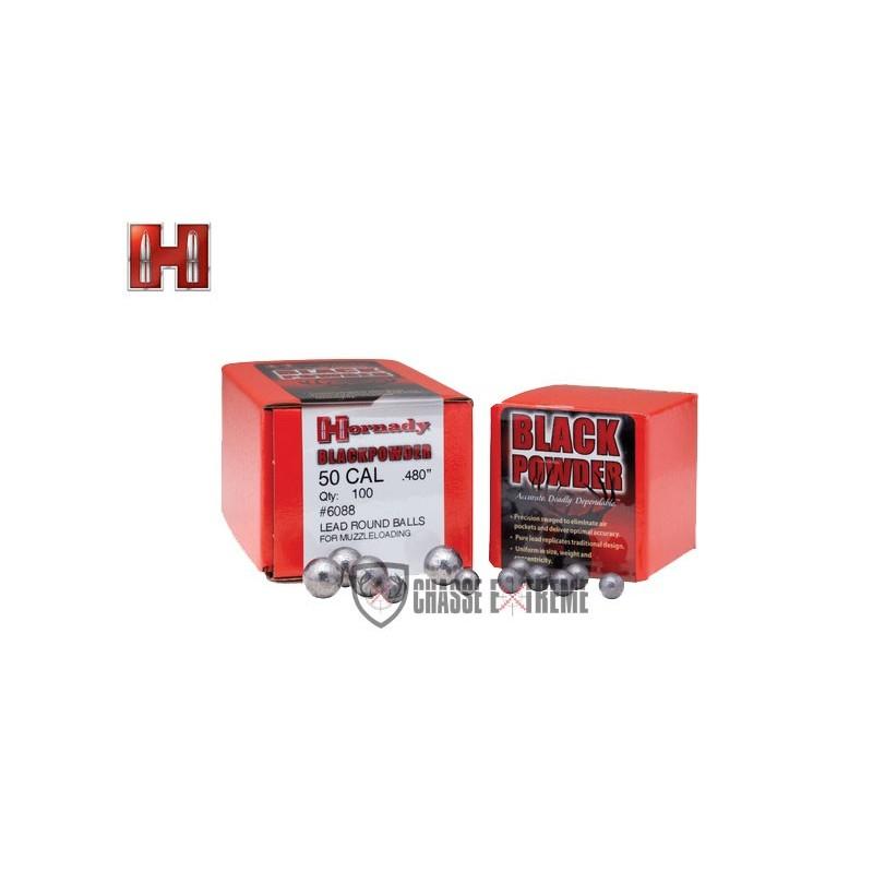 BALLES RONDES HORNADY CAL 54 DIAM .530