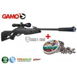 Carabine Gamo Whisper X Tactical 19,9 joules avec lunette 3-9x40 WR et 2 boites de plombs Expander