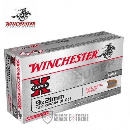 50 MUNITIONS WINCHESTER FULL METAL JACKET 9X21 124GR