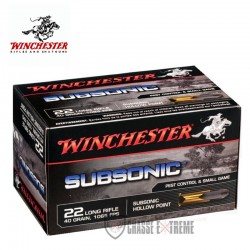 50 MUNITIONS WINCHESTER SUBSONIC 22LR 40GR