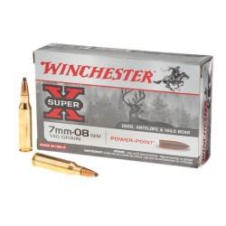 Munitions winchester calibre 7-08 Rem 140 grains power point
