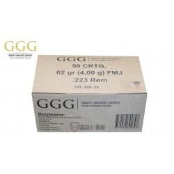 1000 MUNITIONS GGG 62 GR CAL 223 REM FMJ