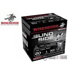 CARTOUCHES WINCHESTER BILLES D'ACIER STEEL BLIND SIDE 30 GR CAL 20/76