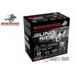 CARTOUCHES WINCHESTER BILLES D'ACIER STEEL BLIND SIDE 35 GR CAL 12/70