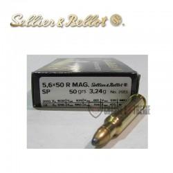 20 MUNITIONS S&B SP CAL 5.6×50R MAGNUM 50GR