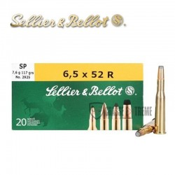 20 MUNITIONS S&B SP CAL 6.5×52 R 117GR