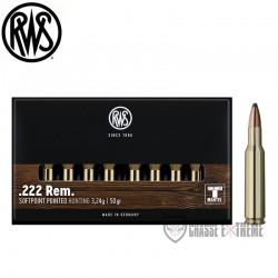 Munitions Rws calibre 222 Rem Tms 50 grains