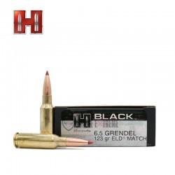 20 MUNITIONS HORNADY BLACK MATCH 6.5MM GRENDEL 123 GR ELD