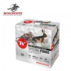25 Cartouches WINCHESTER Special Fibre 34g cal 12/70