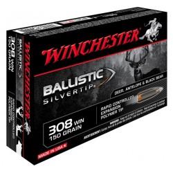 Munitions winchester 308 WIN BALLISTIC SILVERTIP 168 grain