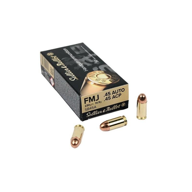 Munitions S&B 45 ACP FMJ 14.9g/230g