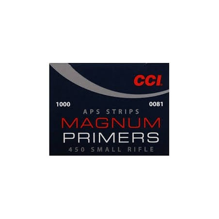 Amorces CCI APS SMALL RIFLE STRIPS 450 MAG