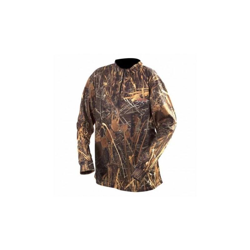 Tee-shirt Sportchief camo roseau col ZIP