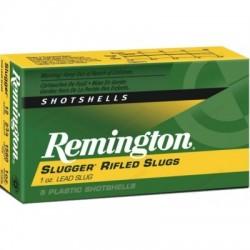 Lot de 9 boites de 5 balles Remington Slugger Rifled Slugs cal 12/70