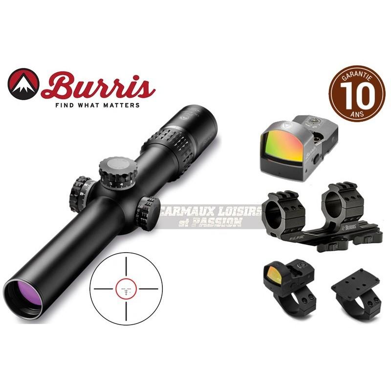 LUNETTE BURRIS XTREME TACTICAL XTR II 1-8X24 Ballistic Circle Dot