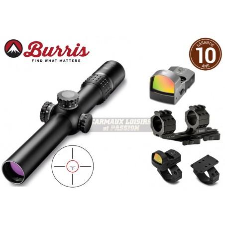KIT TACTICAL LUNETTE BURRIS XTREME TACTICAL XTR II 1-8X24 Ballistic Circle Dot