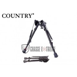 BIPIED TÊTE FIXE 6 POSITIONS 22-33 CM - COUNTRY