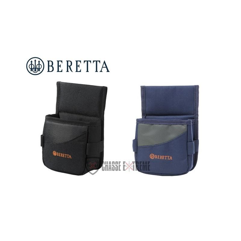 BERETTA SACOCHE POUR UNE BOÎTE DE CARTOUCHES 12X7X12 CM, BLEU, GRIS & ORANGE