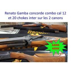 RENATO GAMBA CONCORDE COMBO CAL 12 ET 20 CHOKES INTER SUR LES 2 CANONS