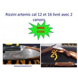 RIZZINI ARTEMIS CAL 12 ET 16 LIVRE AVEC 2 CANONS