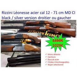 RIZZINI LÉONESSE ACIER CAL 12 - 71 CM MD CI BLACK / SILVER VERSION DROITIER OU GAUCHER