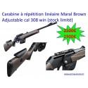 Carabine à répétition linéaire Maral Brown Adjustable Cal 308 Win (Stock Limité)