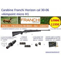 CARABINE FRANCHI HORISZON BATTUE 30-06 + Aimpoint Micro H1